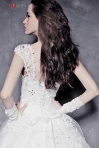 Robe de Mariée Longue Appliques