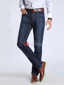 pantalons d'homme Motif de Slim Hommes Jeans jambe droite