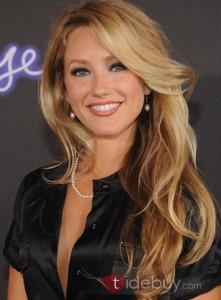 Perruque Indétectable de Cheveux 100% Humain Long Ondulé Blond avec Brun environ 20 Inches