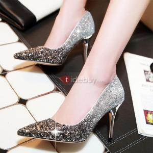 Chaussures de Mariage Sexy Toe Sequin PU