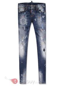 Jeans Elestic Style Européen Trous Conçu