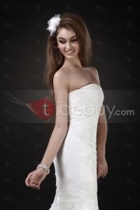 Fabuleuse Robe de Mariée Trompette/Sirène Bustier Coeur Longueur Traîne Chapelle