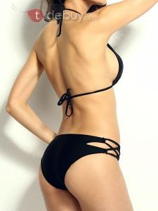 Bikini Sexy Bretelles Noir en Vogue